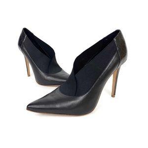 Elie Tahari Pointed Toe Leather Pump Heels